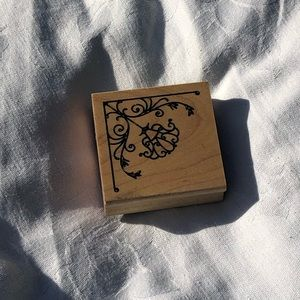 Floral Boarder Wooden Stamp Arts and Craft Tool